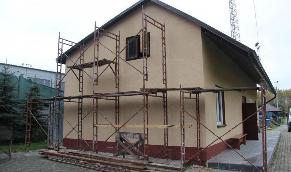 Trwa remont budynku klubu sportowego Tempo Cmolas  - Zdjęcie główne