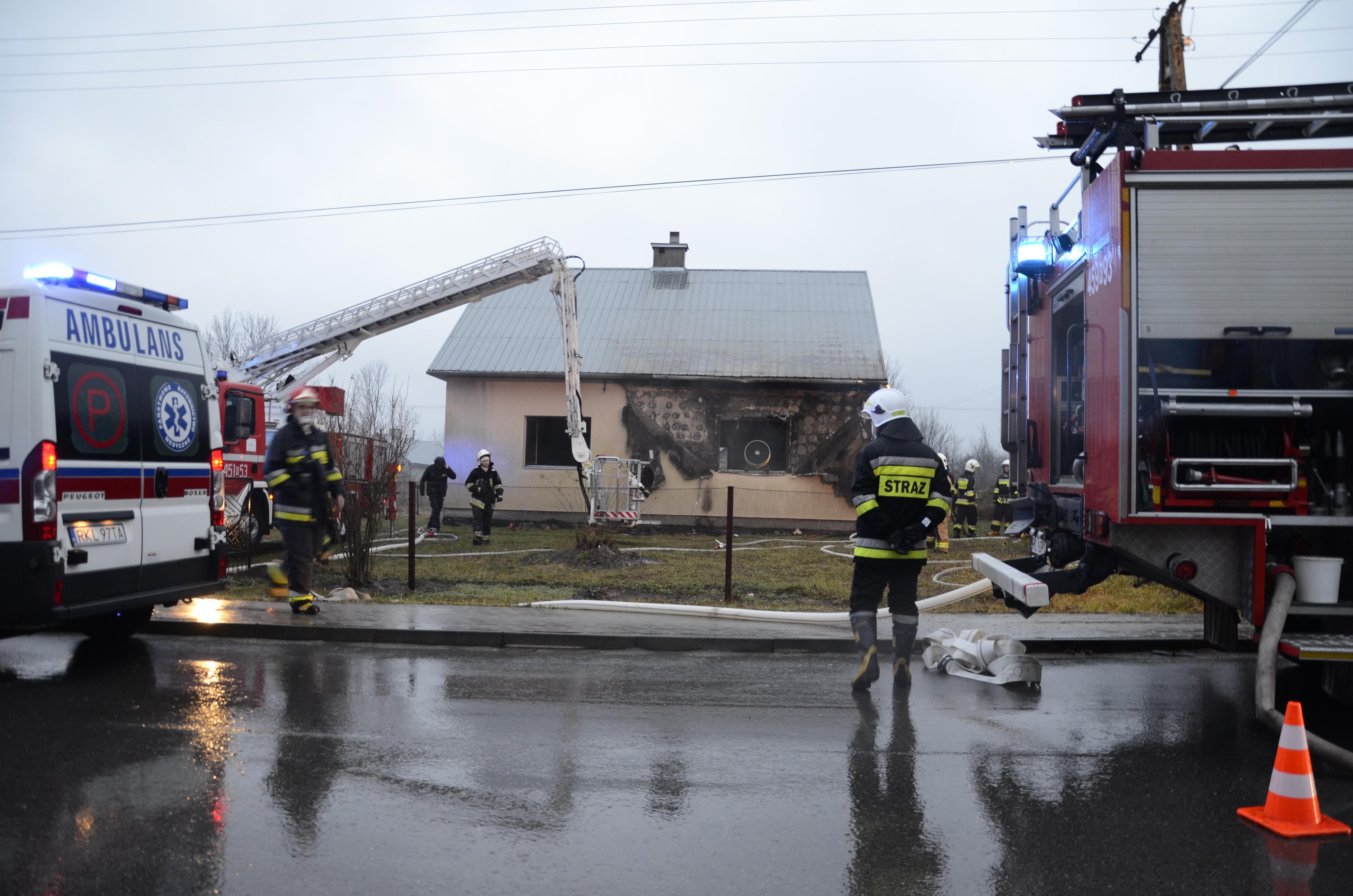 Policja o tragicznym pożarze w Lipnicy. Zginął 49-latek - Zdjęcie główne