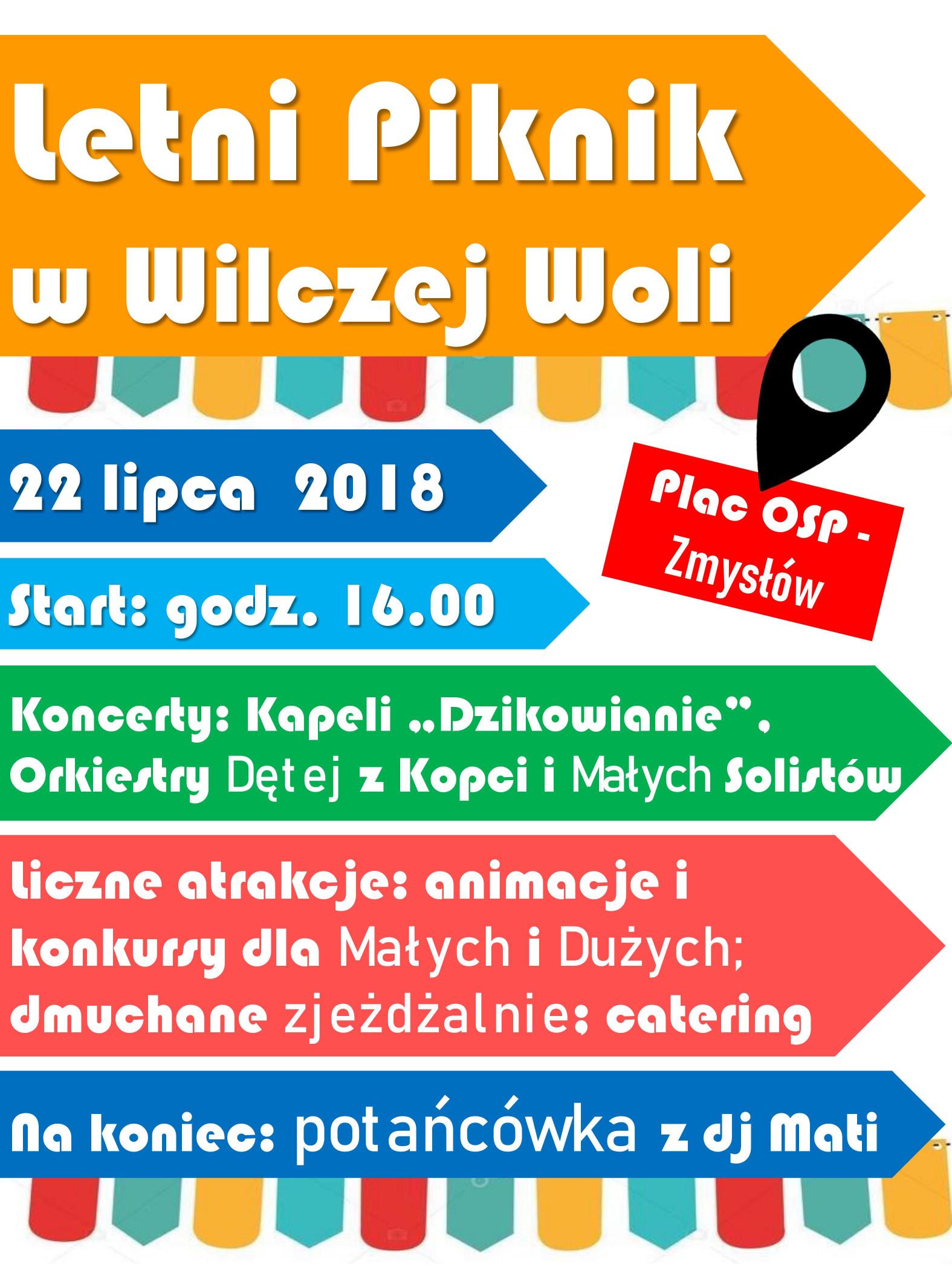 Gmina Dzikowiec. Letni piknik w Wilczej Woli, z myzyką i atracjami dla odwiedzających - Zdjęcie główne