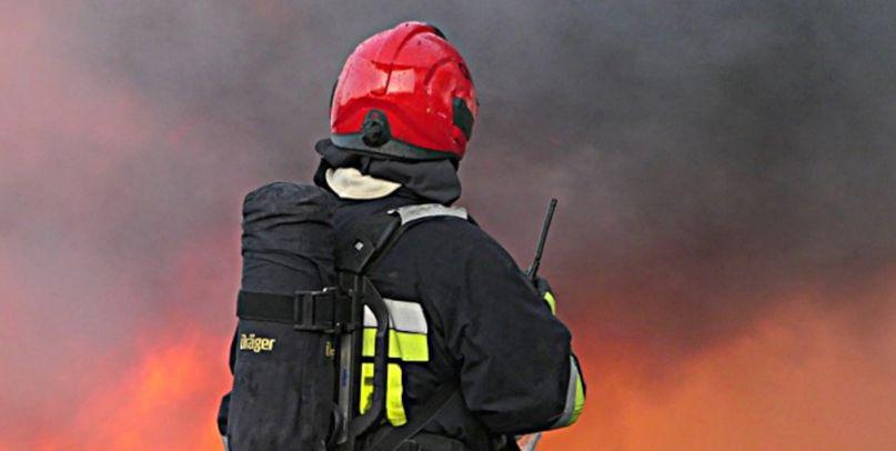 Ogień na poligonie w Nowej Dębie! Z pożarem walczy mnóstwo strażaków - Zdjęcie główne