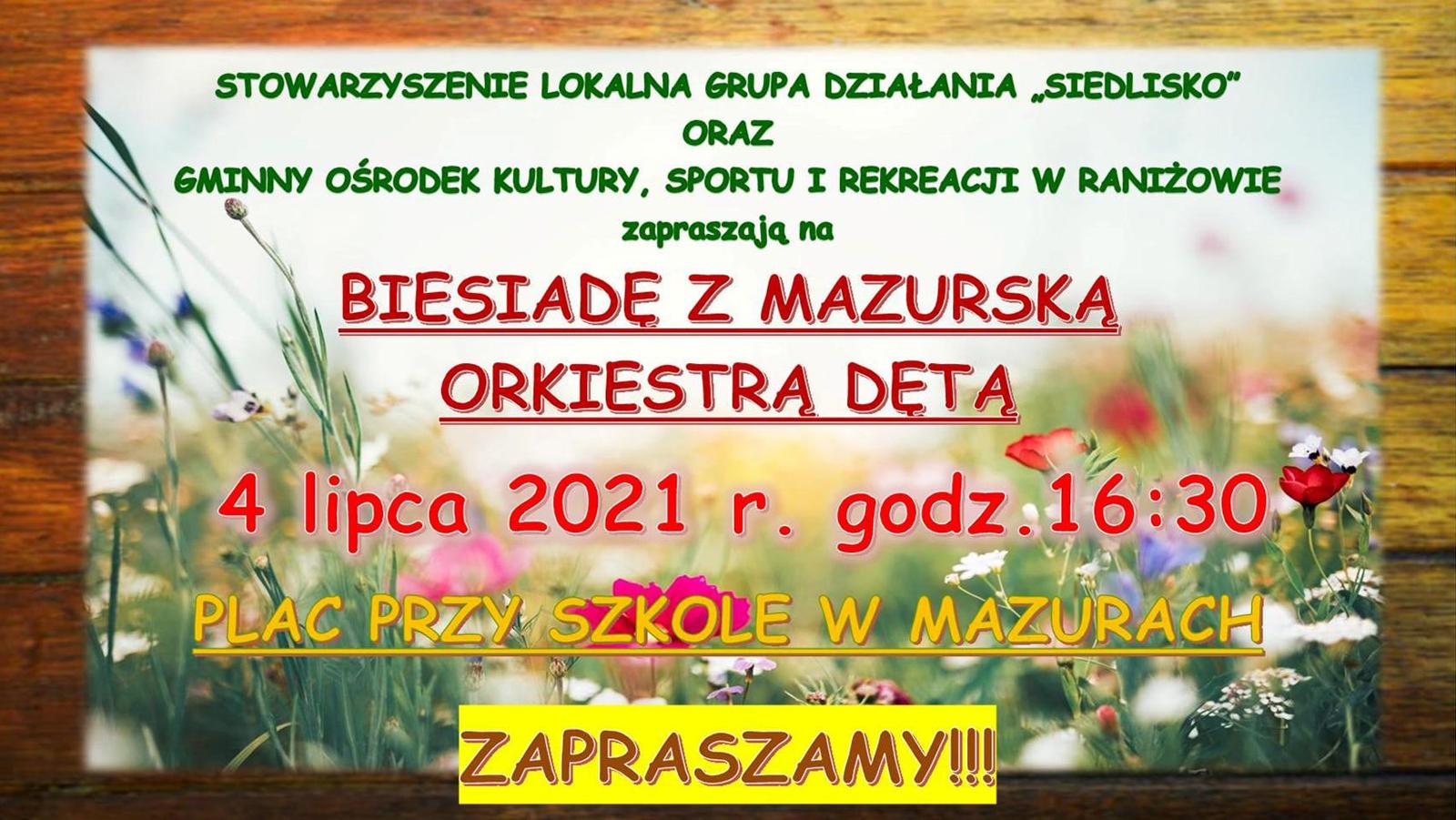 4 lipca: Biesiada z Mazurską Orkiestrą Dętą - Mazury 2021 - Zdjęcie główne