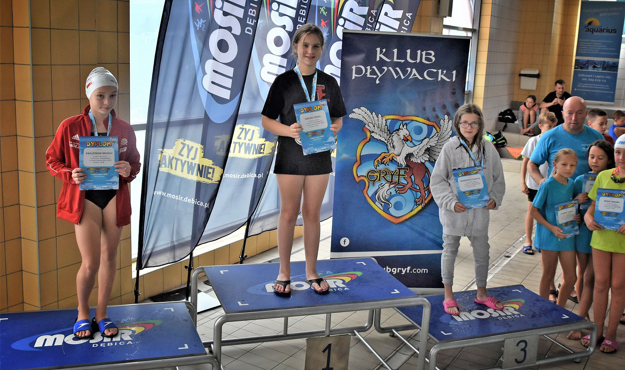 Osiem medali pływaków Fregaty. Złoto dla Pauliny i Oliwii - Zdjęcie główne