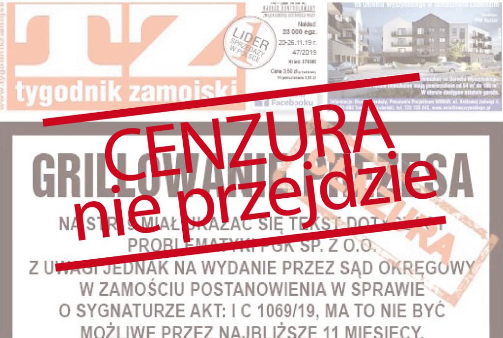 CENZURA nie przejdzie! Publikujemy zakazane teksty Tygodnika Zamojskiego |W GEŚCIE SOLIDARNOŚCI| - Zdjęcie główne