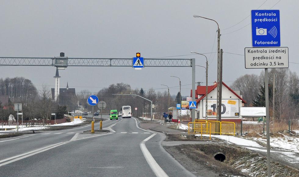 Radni z Kolbuszowej wnioskują do GDDKiA o zwiększenie prędkości na odcinkowym pomiarze prędkości w Kolbuszowej Górnej  - Zdjęcie główne