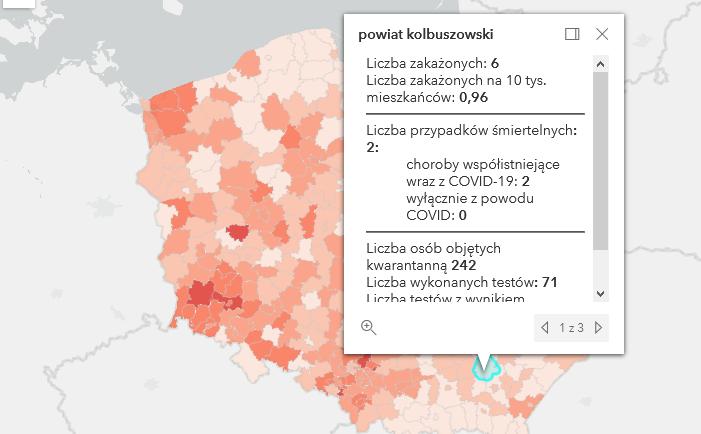 Zmarło dwóch mieszkańców powiatu kolbuszowskiego. Są też nowe zakażenia [czwartek - 22 kwietnia] - Zdjęcie główne