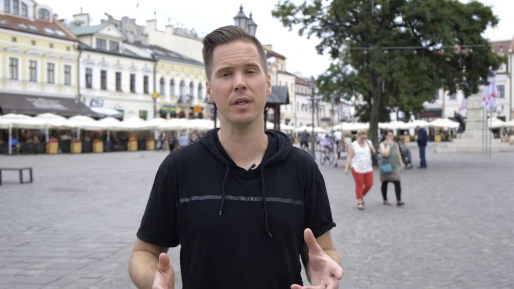Z PODKARPACIA. Amerykański YouTuber promuje Rzeszów w filmie  VIDEO  - Zdjęcie główne