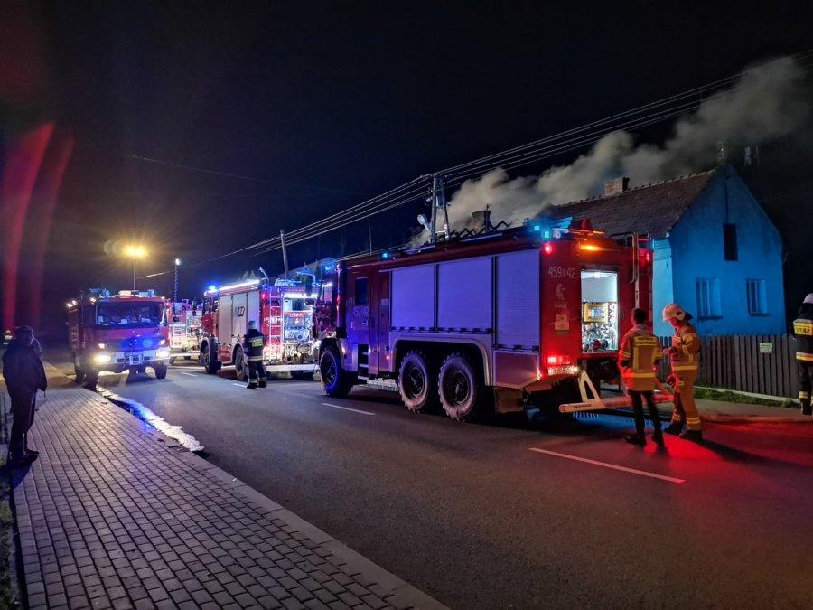 Pożar domu w Raniżowie - Zdjęcie główne