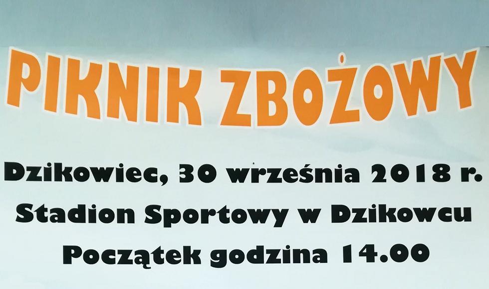 Piknik Zbożowy w Dzikowcu. Organizatorzy zapraszają w niedzielę, 30 września na zabawę - Zdjęcie główne