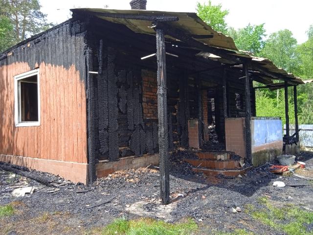 Podkarpacie: Strażacy gasząc pożar znaleźli zwęglone ludzkie ciało! - Zdjęcie główne