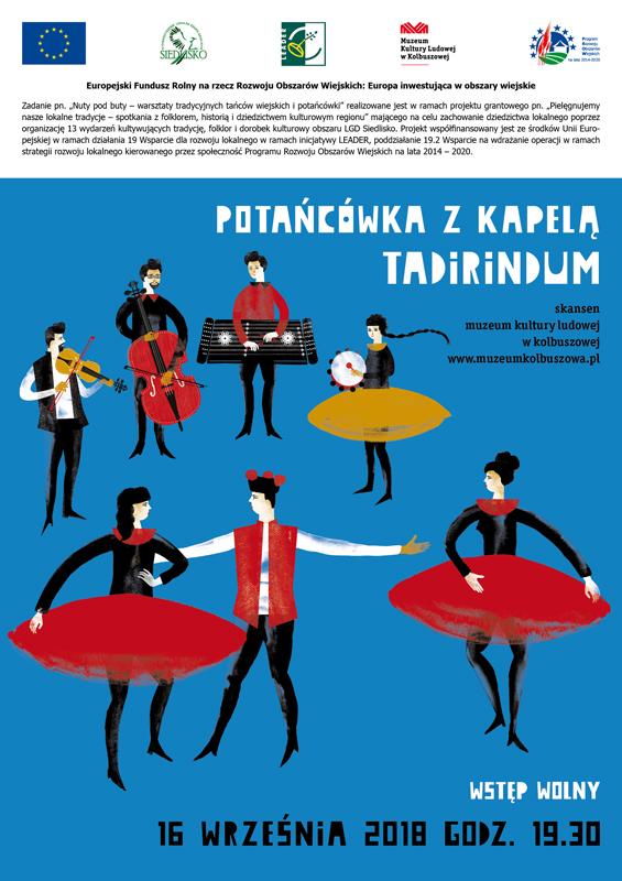 Potańcówka z kapelą Tadirindum w skansenie w Kolbuszowej. Wstęp wolny  - Zdjęcie główne