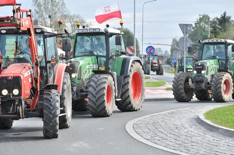 Protest rolników. Przejechali ulicami Kolbuszowej tamując ruch [FOTO, VODEO] - Zdjęcie główne