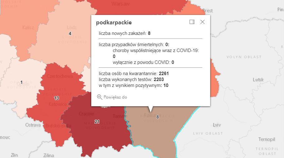 Nowe zakażenia Covid-19 na Podkarpaciu [niedziela - 8 sierpnia] - Zdjęcie główne