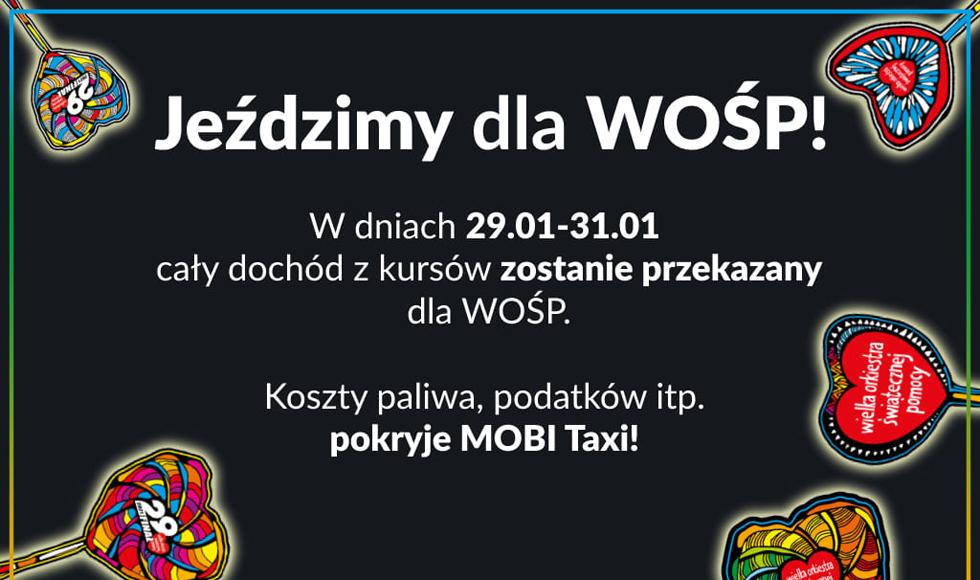 WOŚP Kolbuszowa. Taksówka z serduszkiem WOŚP - Zdjęcie główne