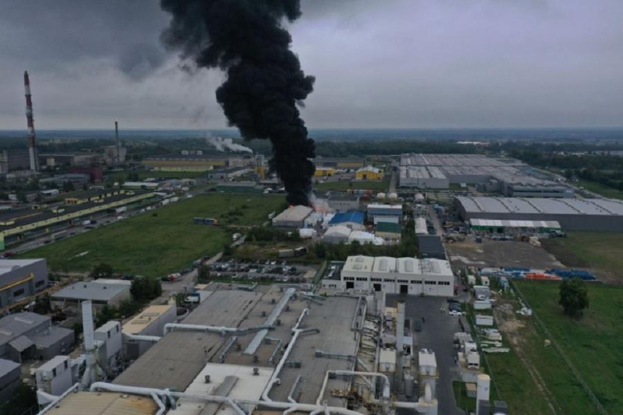 Podkarpacie. Ogromny pożar nieopodal Tarnobrzega [VIDEO, FOTO] - Zdjęcie główne