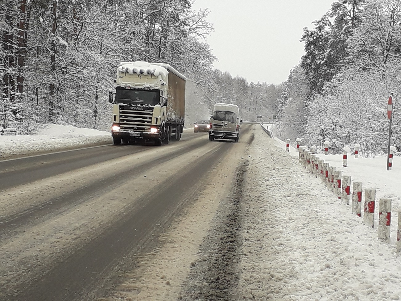 Trudne warunki na drodze Kolbuszowa - Mielec [ZDJĘCIA] - Zdjęcie główne