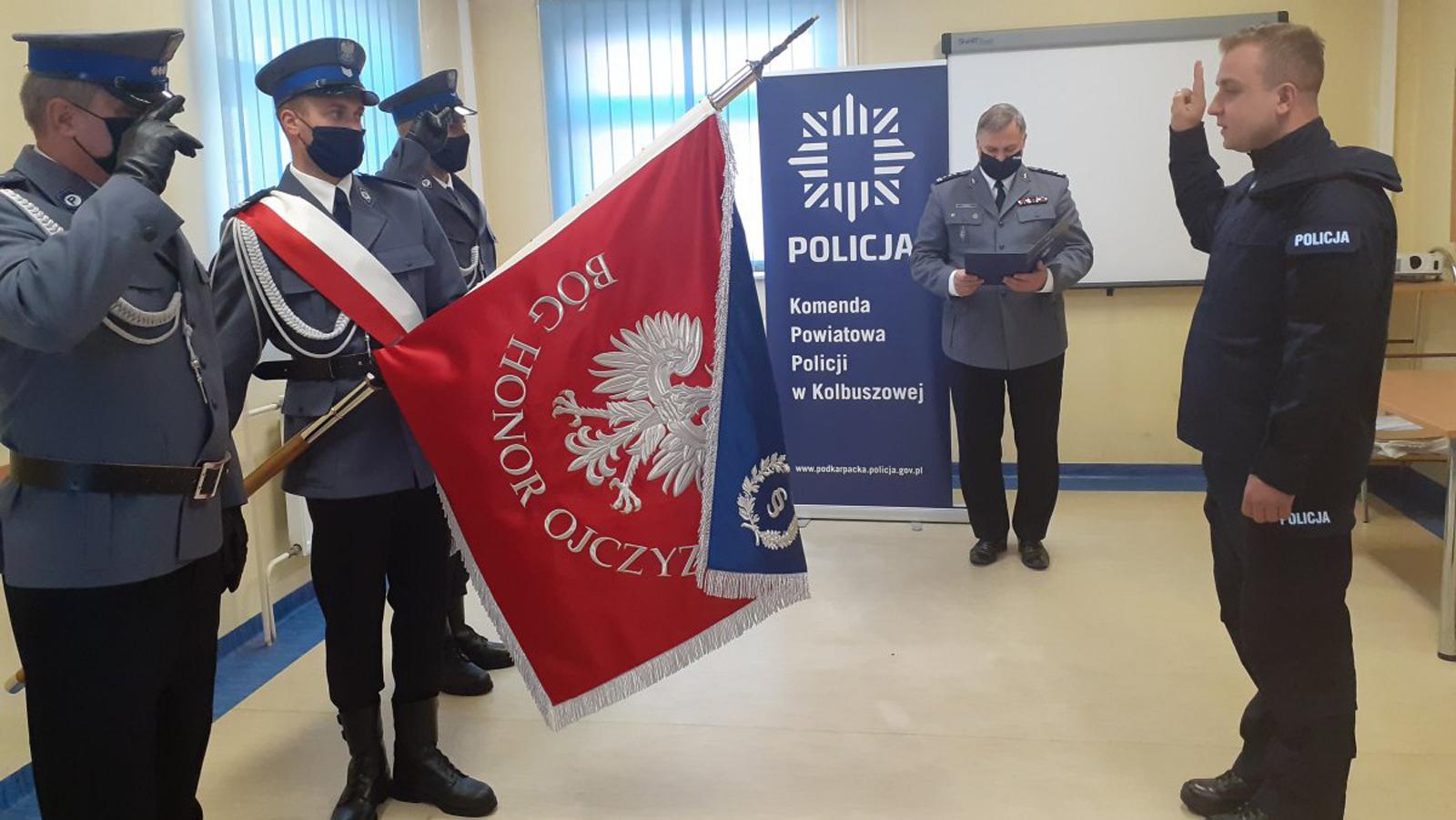 Nowy policjant w kolbuszowskiej jednostce - Zdjęcie główne