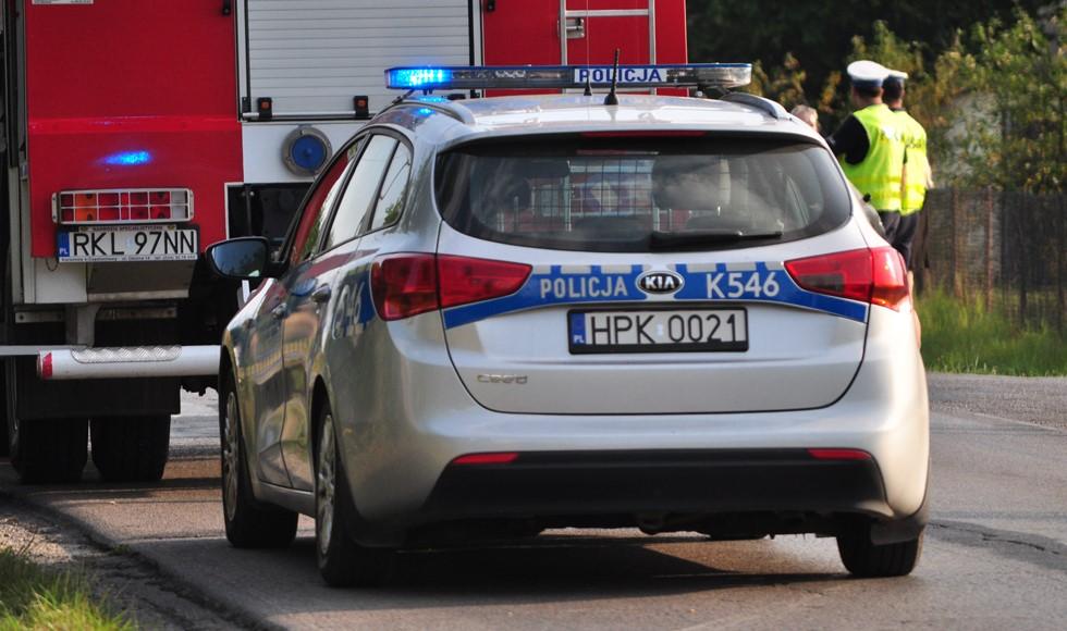 Podkarpacie. Wypadek na drodze krajowej. Jedna osoba uwięziona - Zdjęcie główne