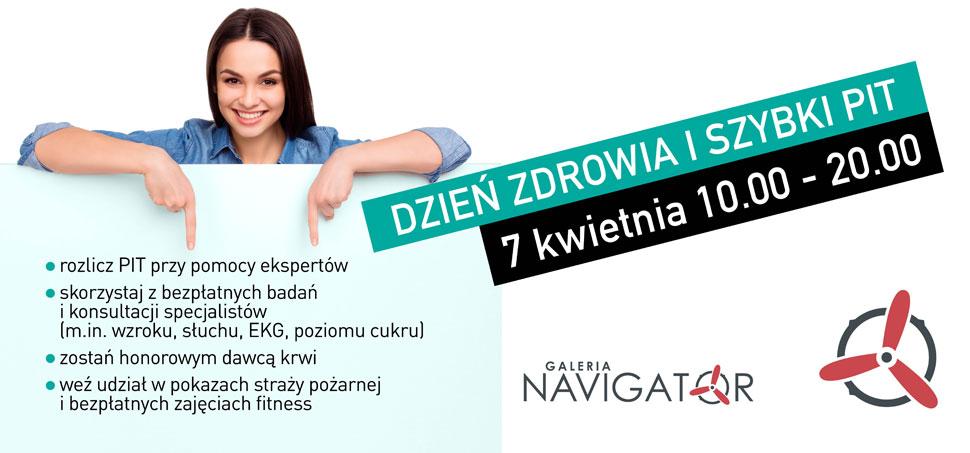 Szybki PIT i Dzień Zdrowia 7 kwietnia w Galerii Navigator - Zdjęcie główne
