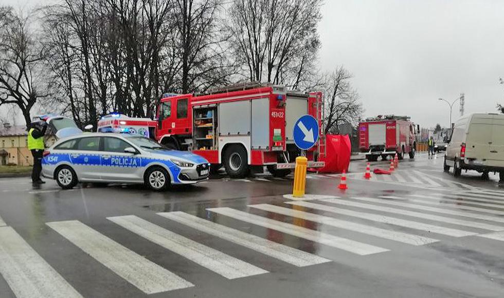 KOLBUSZOWA. Policja o sobotnim wypadku przy komendzie  - Zdjęcie główne