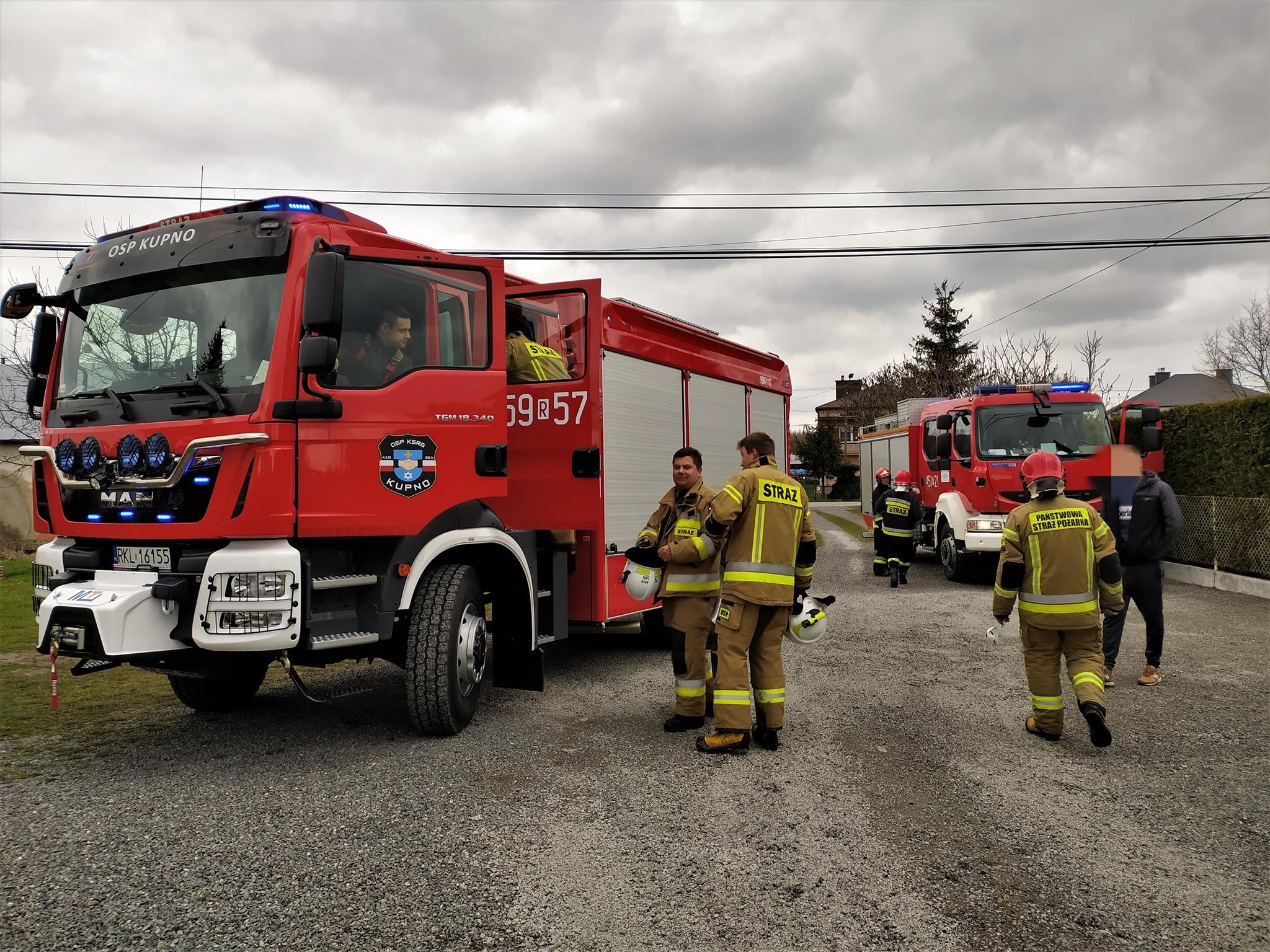 Gmina Kolbuszowa. Dwie niedzielne interwencje strażaków  - Zdjęcie główne