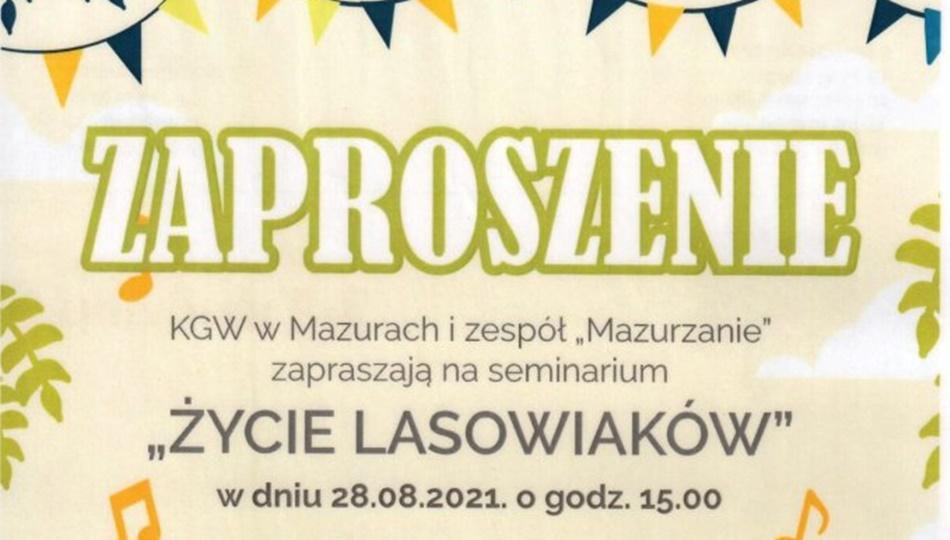 28 sierpnia: Śladami Lasowiaków razem z Kołem Gospodyń Wiejskich i zespołem Mazurzanie [PLAKAT] - Zdjęcie główne