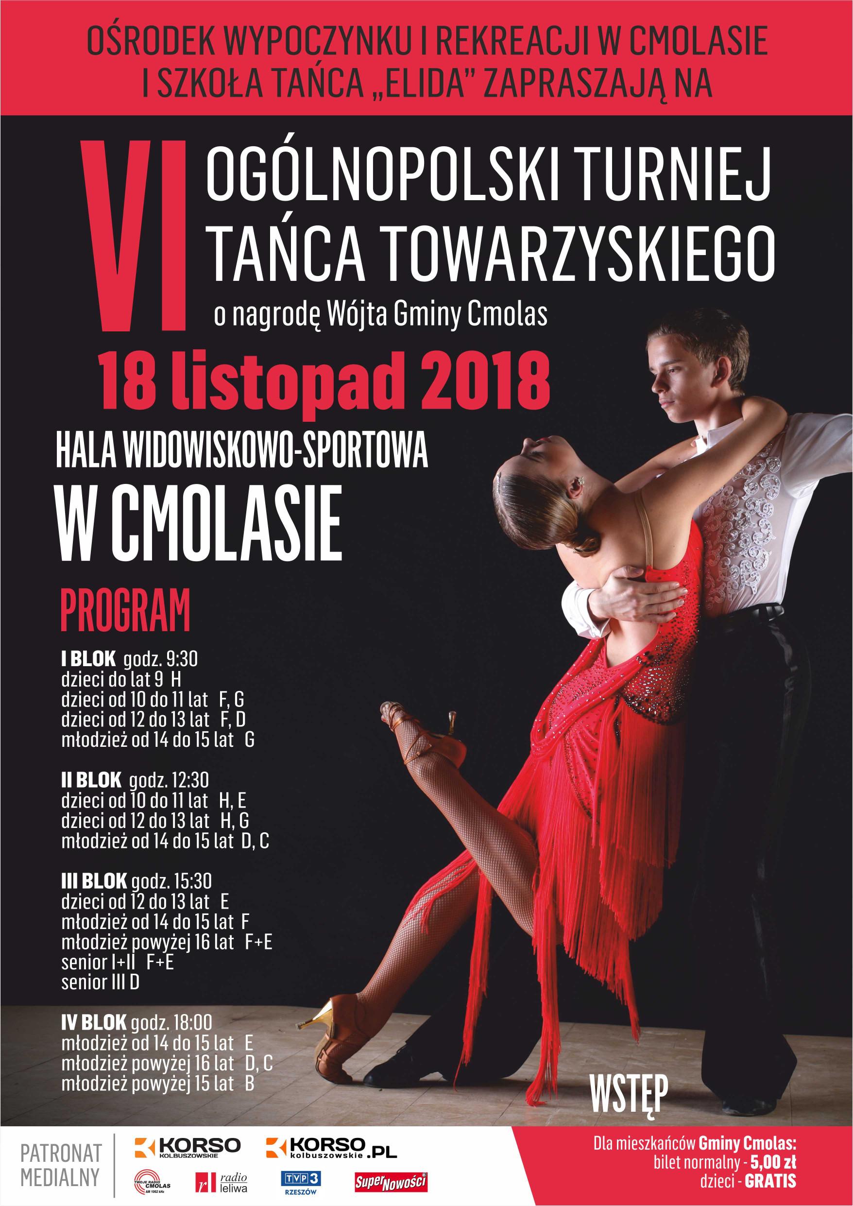 Ogólnopolski turniej tańca w Cmolasie. W konkursie powalczą pary z całej Polski - Zdjęcie główne