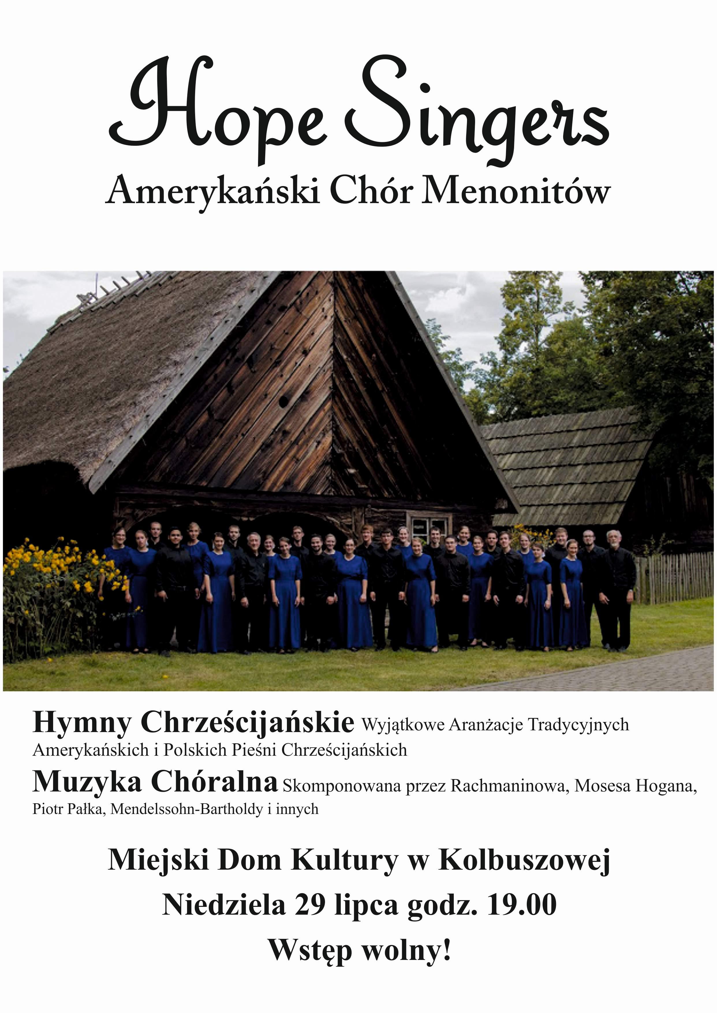 Amerykański chór The Hope Singers wystąpi w Kolbuszowej - Zdjęcie główne