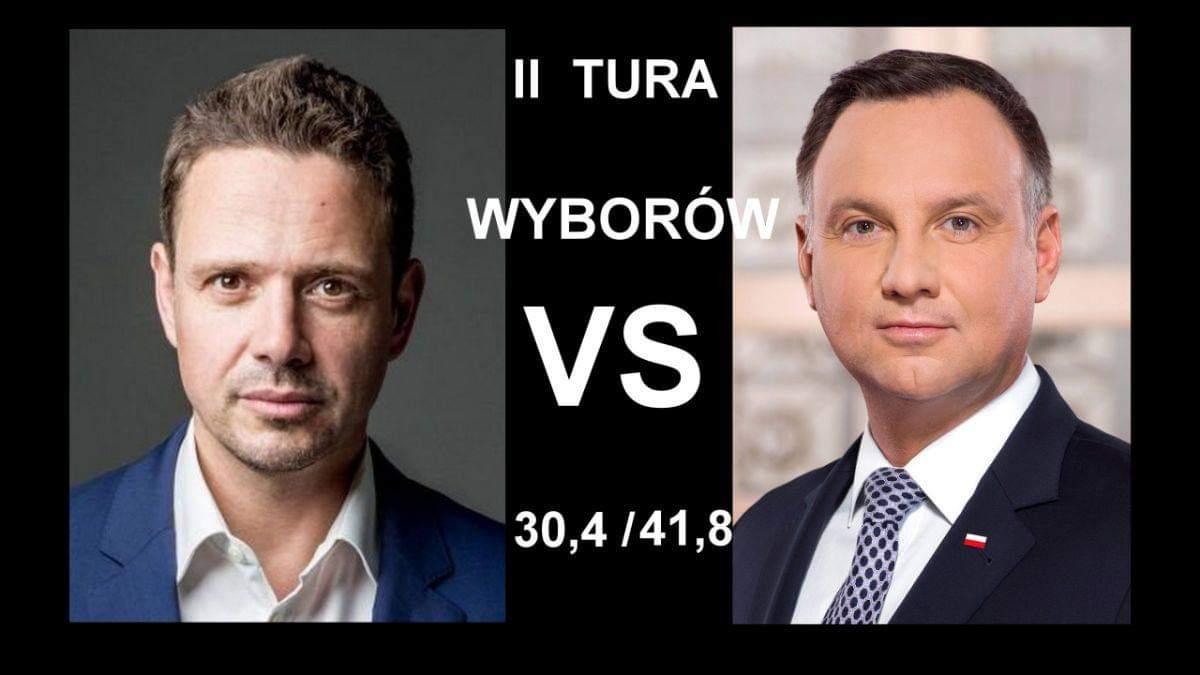 Duda kontra Trzaskowski w drugiej turze  - Zdjęcie główne