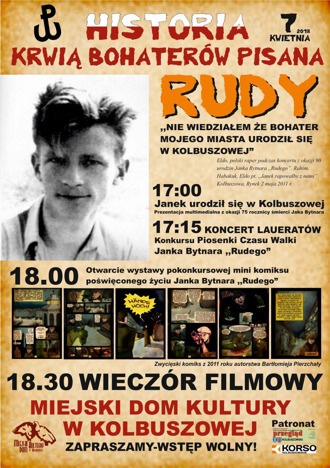 """Historia krwią bohaterów pisana - """"Rudy"""". Wystawa i wieczór filmowy w MDK Kolbuszowa - Zdjęcie główne"""