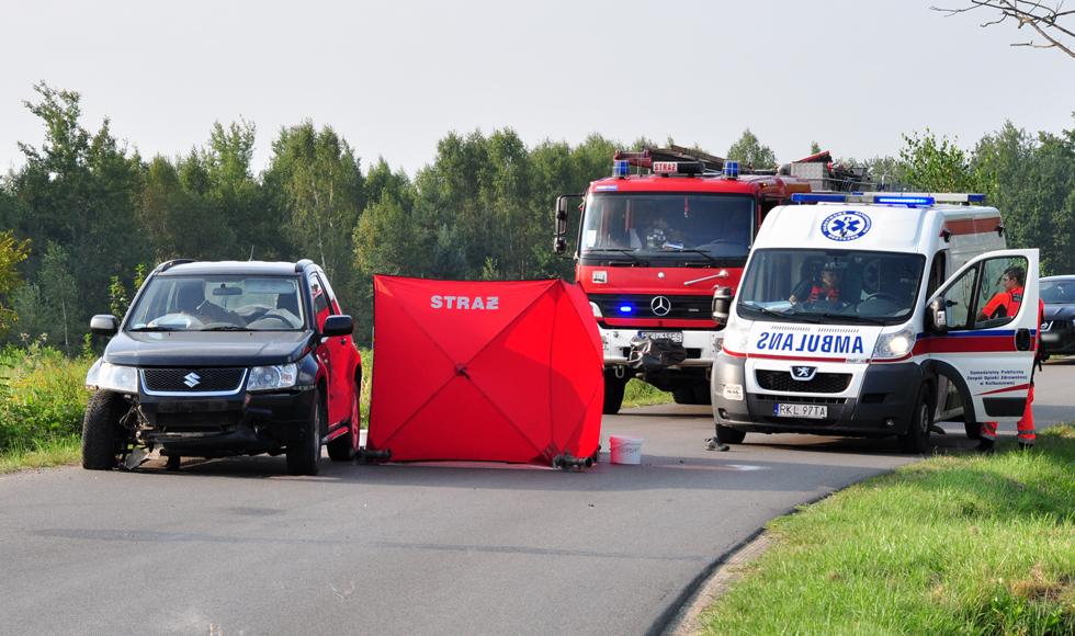 Śmiertelny wypadek w Widełce. Zginął motocyklista  - Zdjęcie główne