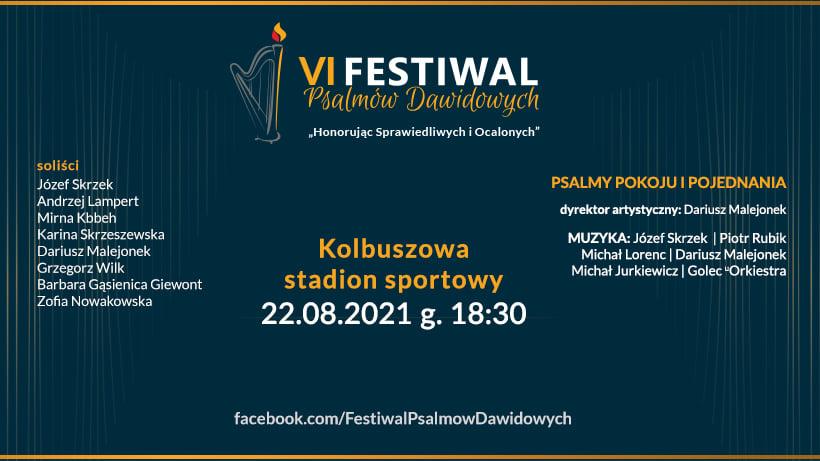 22 sierpnia: Festiwal Psalmów Dawidowych - Kolbuszowa 2021. Wystąpi Rubik i Golcowie - Zdjęcie główne
