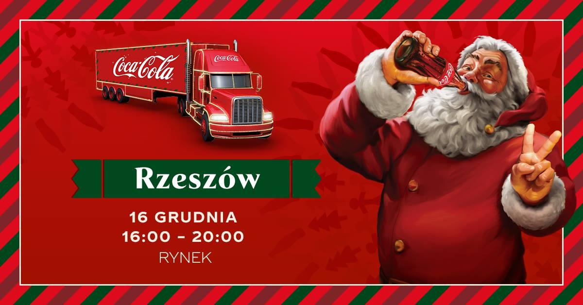 Ciężarówka Coca-Coli w Rzeszowie  - Zdjęcie główne