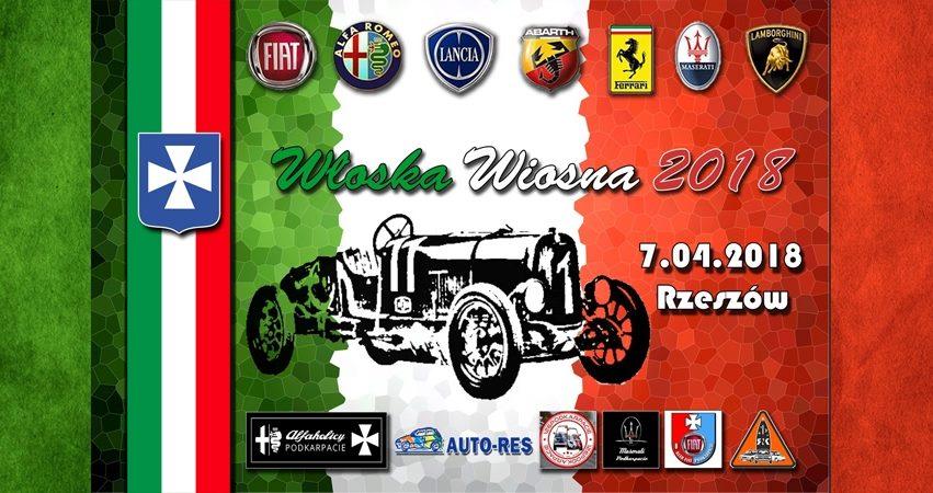 Włoska Wiosna 2018 - zlot włoskiej motoryzacji w Rzeszowie z kolbuszowskim akcentem  - Zdjęcie główne