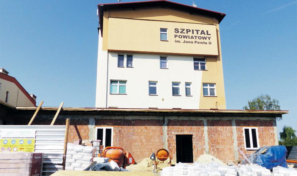 Trwa budowa bloku operacyjnego przy kolbuszowskim szpitalu - Zdjęcie główne