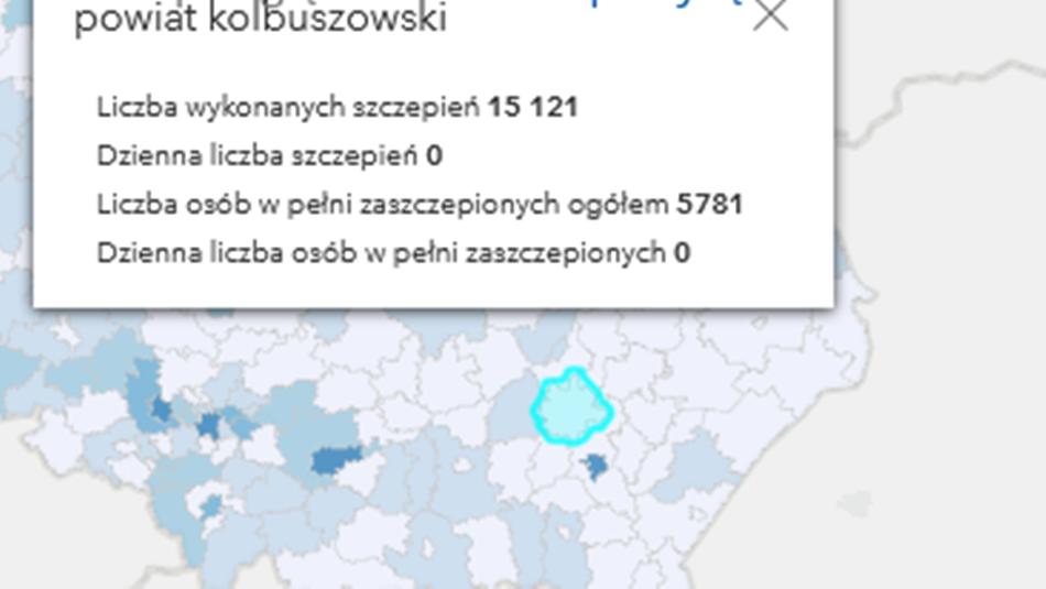 Nowe zachorowania i liczba szczepień w powiecie kolbuszowskim i na Podkarpaciu  - Zdjęcie główne