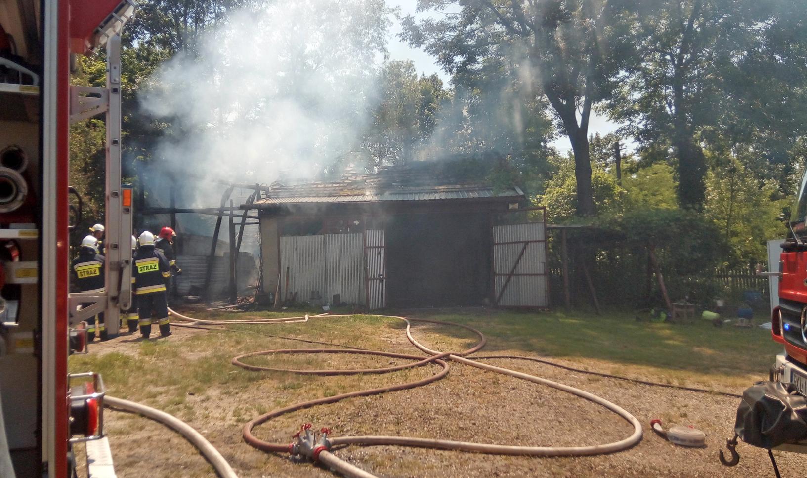 Pożar w Przyłęku. Strażacy jadą na miejsce |ZDJĘCIA| - Zdjęcie główne