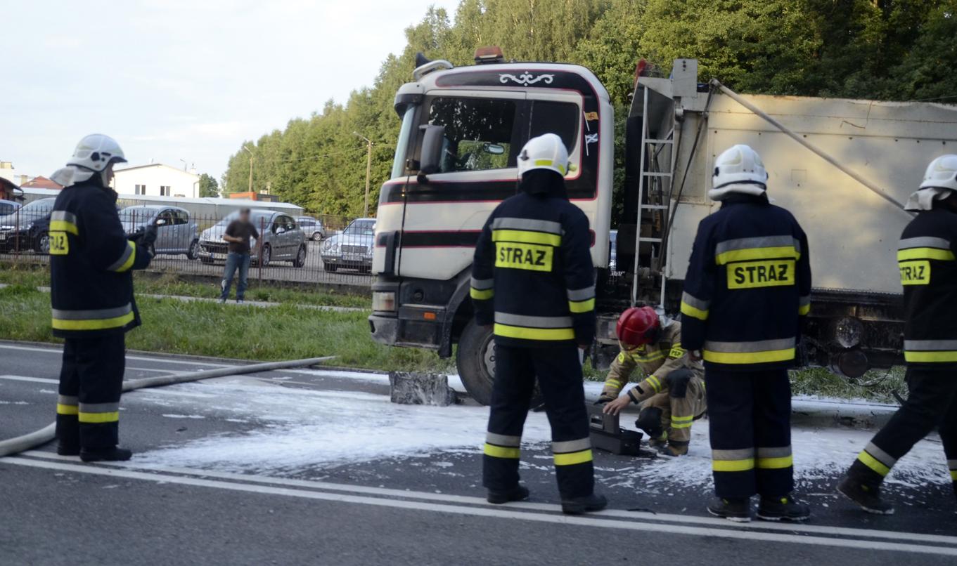 Strażacy w akcji na DK 9 [FOTO] - Zdjęcie główne