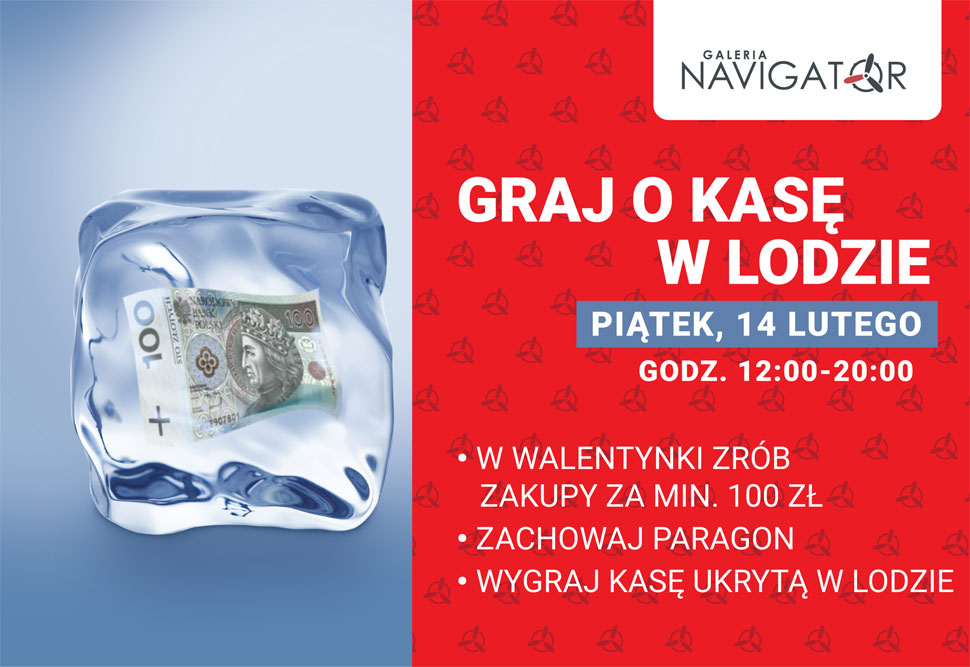 Podejmij wyzwanie i zagraj o dużą kasę w Walentynki w Galerii Navigator!  - Zdjęcie główne