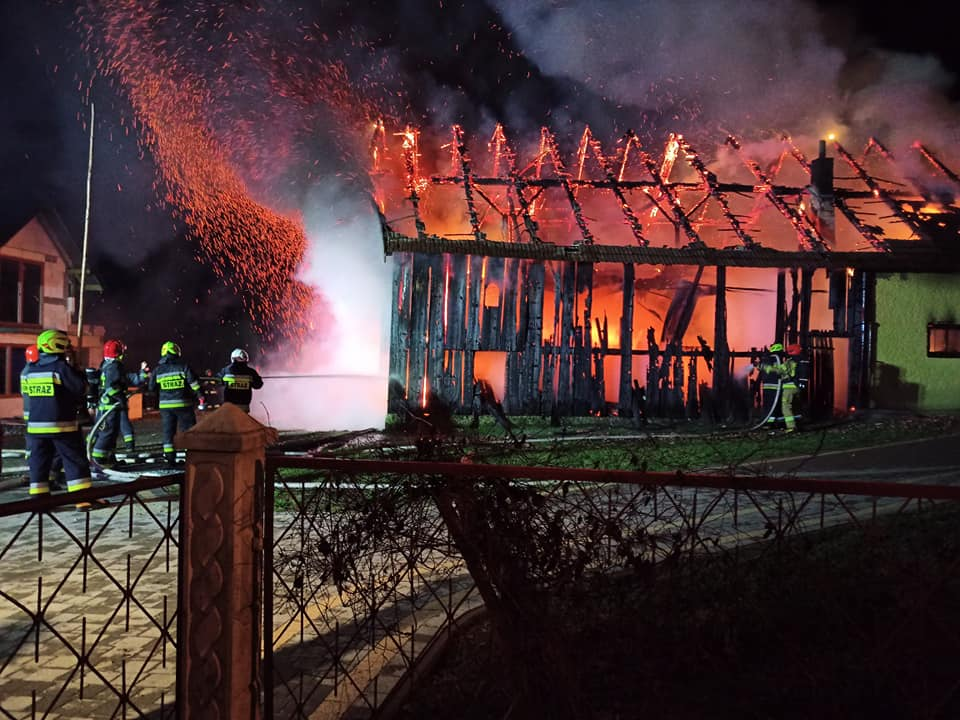 Podkarpacie. Ogień spalił zwierzęta w stodole - Zdjęcie główne