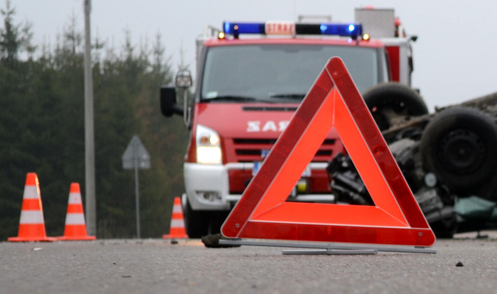 Wypadek na drodze krajowej w Cmolasie [FOTO] - Zdjęcie główne