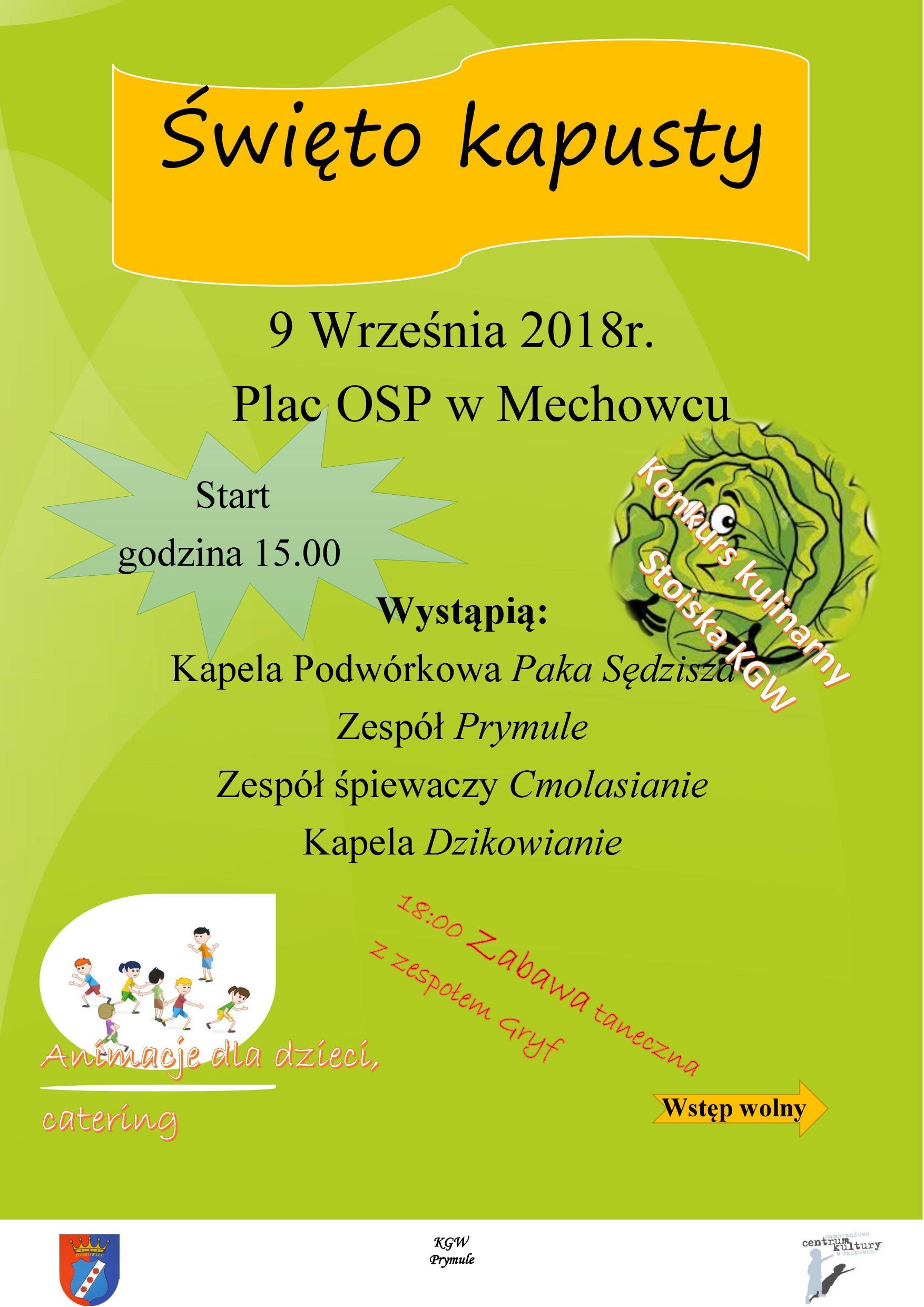 """Gmina Dzikowiec. W Mechowcu odbędzie się tradycyjne już """"Święto kapusty"""" - Zdjęcie główne"""