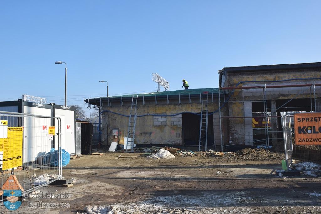 Postęp prac przy budowie dworca w Kolbuszowej. Zobacz zdjęcia  - Zdjęcie główne