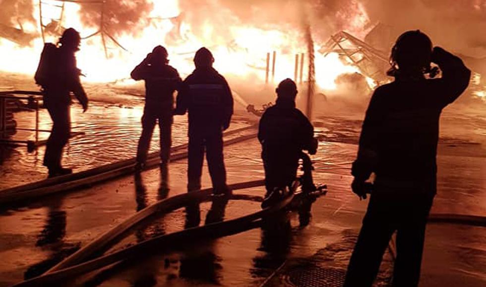 Nocny pożar oczami druhów z OSP [FOTO] - Zdjęcie główne