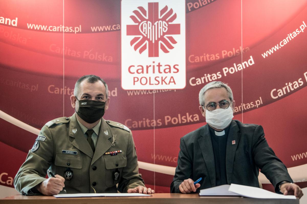 Terytorialsi rozpoczynają współpracę z Caritasem - Zdjęcie główne