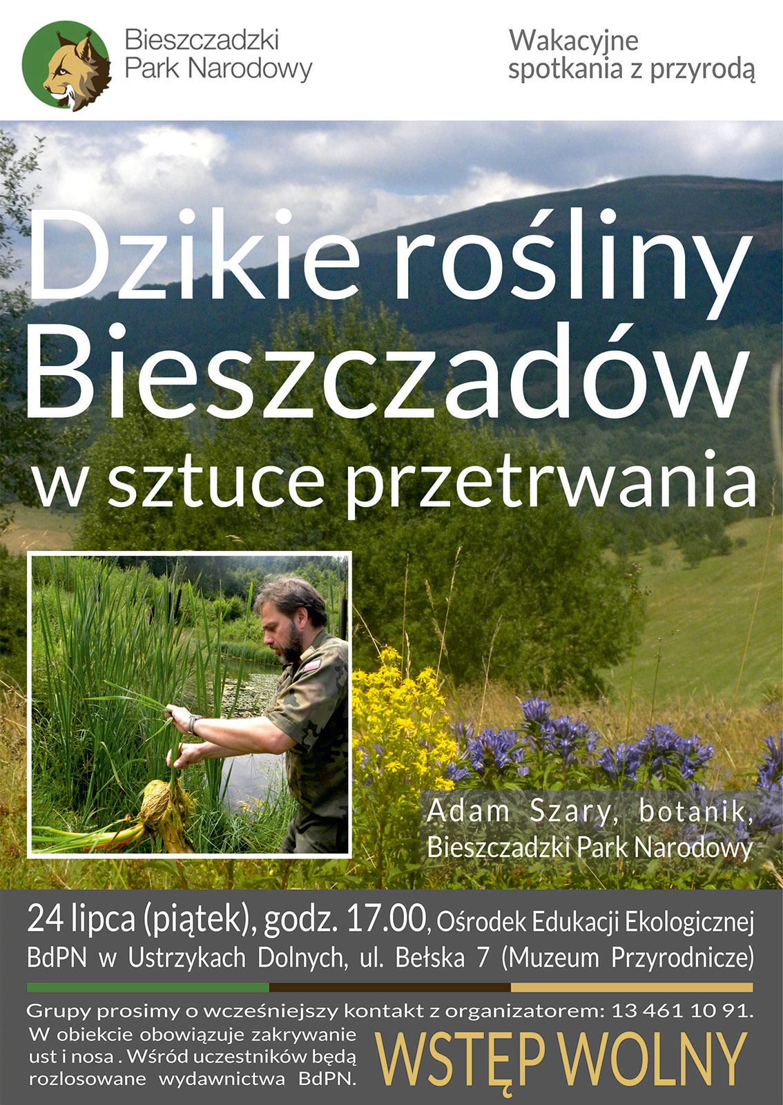 """Spotkanie """"Dzikie rośliny Bieszczadów w sztuce przetrwania""""  - Zdjęcie główne"""