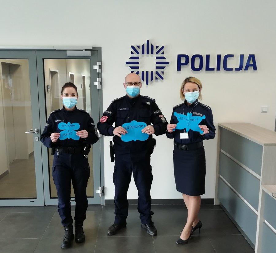 Challenge Niebieskie Motyle 2021. KPP Lesko przyłącza się do akcji! [ZDJĘCIA] - Zdjęcie główne