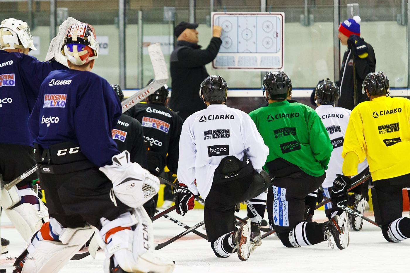 Pierwszy trening drużyny Ciarko STS Sanok na lodzie [FOTORELACJA] - Zdjęcie główne
