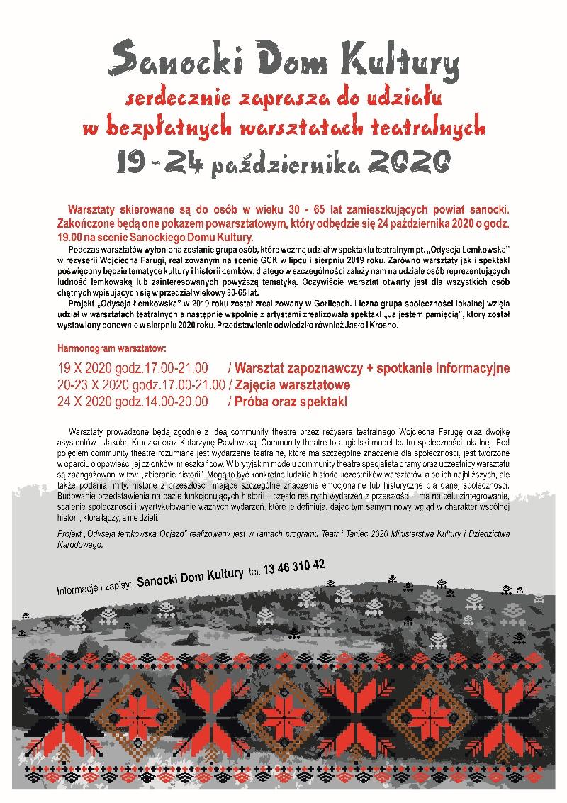 Sanok. Warsztaty teatralne w SDK!  - Zdjęcie główne