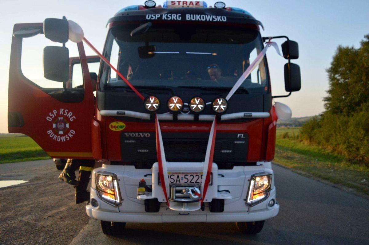 Nowy samochód ratowniczo-gaśniczy w OSP Bukowsko [FOTO+VIDEO] - Zdjęcie główne