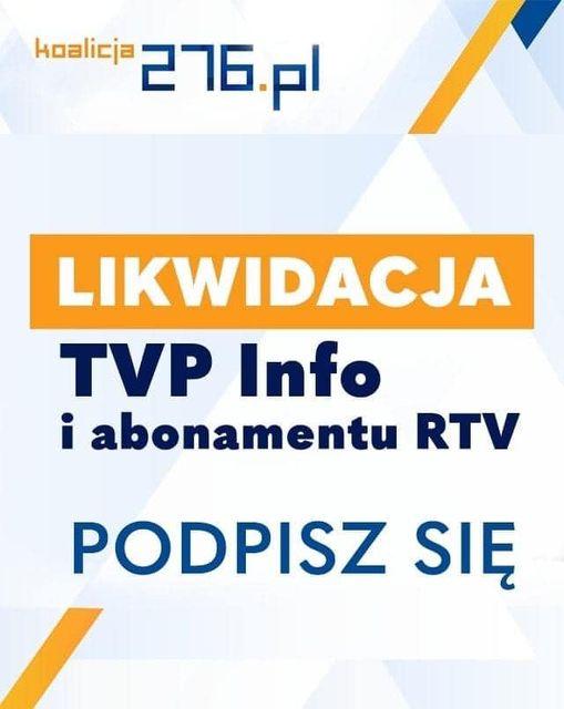 Likwidacja abonamentu RTV oraz TVP Info. Zbiórka podpisów ruszyła! - Zdjęcie główne